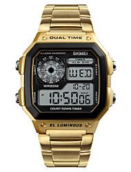 Недорогие -SKMEI Смарт Часы Цифровой Современный Спортивные 30 m Защита от влаги Календарь Повседневные часы Цифровой На каждый день Мода - Розовое золото Золотой Серебряный / Крупный циферблат