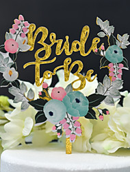 cheap -Cake Topper Classic Theme / Wedding Cut Out Acryic / Polyester Wedding with Acrylic 1 pcs PVC Bag