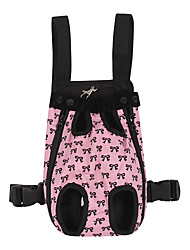 cheap -Dogs Cats Carrier & Travel Backpack Pet Carrier Portable Casual / Daily Bowknot Black Pink