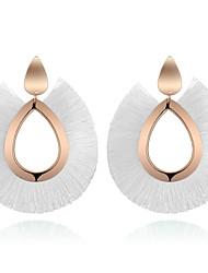 cheap -Women's Earrings fan earrings Tassel Drop Ladies Vintage Bohemian Fashion Earrings Jewelry Red / Green / Golden For Causal Daily 1 Pair