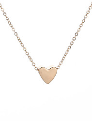 cheap -Women's Charm Necklace Classic Stylish Heart Ladies Simple Classic Alloy Gold 48+5 cm Necklace Jewelry 1pc / pack For Date Going out