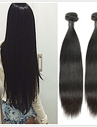 cheap -2 Bundles Malaysian Hair Straight Remy Human Hair Human Hair Extensions 8-30 inch Natural Human Hair Weaves Soft Best Quality New Arrival Human Hair Extensions / 10A