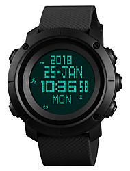 cheap -SKMEI Men's Sport Watch Military Watch Digital Watch Japanese Digital Quilted PU Leather Black / Blue / Green 50 m Water Resistant / Waterproof Alarm Calendar / date / day Digital Luxury Fashion -
