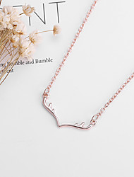 cheap -Women's Charm Necklace Classic Elk Ladies Simple Cute Alloy Gold Silver Rose Gold 48+5 cm Necklace Jewelry 1pc For Christmas Daily