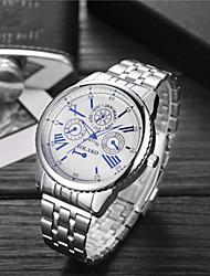 cheap -Men's Women's Sport Watch Wrist Watch Quartz Stainless Steel Silver 30 m Water Resistant / Waterproof Casual Watch Large Dial Analog Luxury Fashion - White Blue