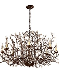 cheap -JLYLITE 8-Light 115 cm Mini Style Chandelier Metal Candle-style Painted Finishes Rustic / Lodge / Retro 110-120V / 220-240V