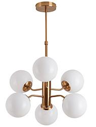 cheap -ZHISHU 6-Light 76 cm Creative Chandelier Metal Glass Sputnik Electroplated Contemporary LED 110-120V 220-240V