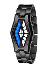 Недорогие -Муж. Для пары Спортивные часы электронные часы Цифровой Черный / Серебристый металл Cool Цифровой На каждый день Мода - Черный Серебряный