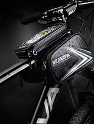cheap -Bike Handlebar Bag Touch Screen Waterproof Zipper Reflective Strips Bike Bag PU Leather TPU Bicycle Bag Cycle Bag Cycling Bike / Bicycle