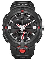 Недорогие -SMAEL Муж. Спортивные часы электронные часы Японский Цифровой Черный 50 m Защита от влаги Календарь Секундомер Аналого-цифровые Мода - Черный / Красный Черный / Синий / Хронометр / Фосфоресцирующий