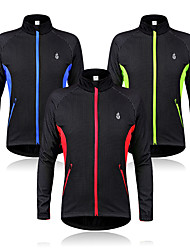 cheap -WOLFBIKE Men's Cycling Jacket Bike Jacket Sweatshirt Windbreaker Thermal / Warm Windproof Fleece Lining Sports Fleece Winter Red / Green / Blue Mountain Bike MTB Road Bike Cycling Clothing Apparel