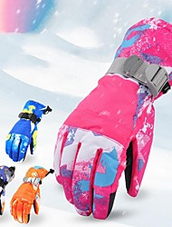 cheap -Winter Gloves Men's Women's Snowsports Full Finger Gloves Winter Waterproof Windproof Breathable PU(Polyurethane) Skiing Snowsports Snowboarding