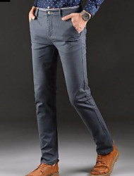 cheap -Men's Basic Going out Slim Chinos Pants - Solid Colored Black Royal Blue Beige 28 29 30