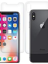 Недорогие -AppleScreen ProtectoriPhone XS HD Защитная пленка для экрана и задней панели 2 штs Закаленное стекло