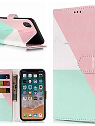 cheap -Case For Apple iPhone XS / iPhone XR / iPhone XS Max Wallet / Card Holder / with Stand Full Body Cases Marble Hard PU Leather
