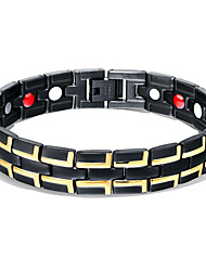 cheap -Men's Chain Bracelet Hologram Bracelet Bracelet Two tone Link / Chain Creative Stylish Unique Design Trendy 18K Gold Plated Bracelet Jewelry Gold / Black / Silver For Daily Street / Titanium Steel