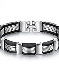 cheap -Men's Thick Chain Chain Bracelet Bracelet Bangles Hologram Bracelet - Titanium Steel, Platinum Plated, Gold Plated Unique Design, Romantic Bracelet Black For Daily Street
