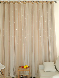 cheap -Modern Curtains Drapes Two Panels Curtain / Blackout / Bedroom