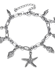 cheap -Women's Pendant Bracelet Retro Starfish Ladies Tropical Boho Stone Bracelet Jewelry Silver For Office & Career Festival
