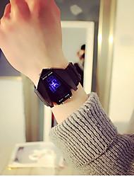 Недорогие -Муж. Для пары Спортивные часы электронные часы Цифровой Черный / Белый Календарь Фосфоресцирующий Повседневные часы Цифровой На каждый день Мода - Белый Черный