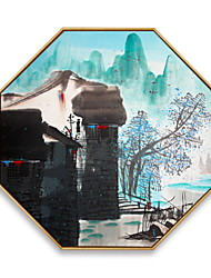 cheap -Framed Oil Painting - Scenic Wood Oil Painting Wall Art