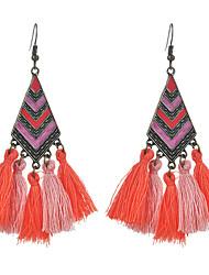 cheap -Women's Drop Earrings Vintage Style Tassel Spike Ladies Tassel Ethnic Earrings Jewelry Dark Blue / Coffee / Light Blue For Party / Evening Festival 1 Pair