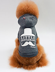 cheap -Dogs Cats Sweatshirt Winter Dog Clothes Red Gray Costume Pug Bichon Frise Schnauzer Cotton Slogan Sports & Outdoors Casual / Daily S M L XL XXL