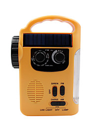 cheap -RD339 Portable Radio MP3 Player / Solar Power / FlashLight World Receiver Yellow
