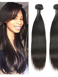 cheap -2 Bundles Indian Hair Straight Remy Human Hair Human Hair Extensions 8-30 inch Natural Human Hair Weaves Soft Best Quality New Arrival Human Hair Extensions / 10A