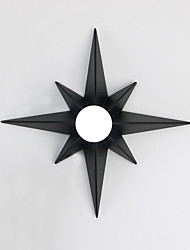 cheap -Modern Octagonal Star Pattern Design Simplicity Metal Wall Lights Living Room Restaurant Bedroom Bedside Lamp Stairs Hallway Light Fixture