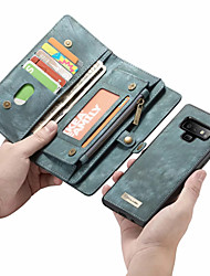 cheap -CaseMe Case For Samsung Galaxy Note 9 / Note 8 Wallet / Card Holder / Flip Full Body Cases Solid Colored Hard PU Leather for Note 9 / Note 8