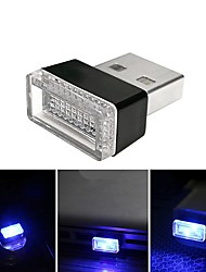 cheap -BRELONG LED car black USB cigarette lighter change decorative atmosphere light 1 pcs
