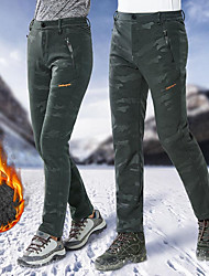 cheap -Men's Ski / Snow Pants Skiing Camping / Hiking Snowboarding Thermal / Warm Waterproof Windproof POLY Elastane Pants / Trousers Ski Wear / Winter / Camo / Camouflage