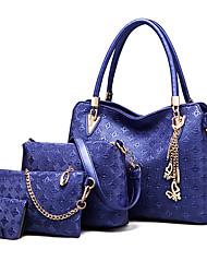cheap -Women's Tassel PU Leather Bag Set Bag Sets 4 Pieces Purse Set White / Black / Blue