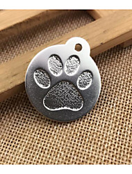 cheap -Dogs Cats Tag Portable Footprint / Paw Decoration Solid Colored Footprint / Paw Alloy Gold Silver Red