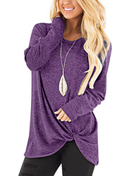 cheap -Women's Going out / Weekend Basic / Street chic Solid Colored Long Sleeve Loose Regular Cashmere Sweater Jumper, Round Neck Fall / Winter Cashmere Black / Wine / Light Blue S / M / L / Sexy