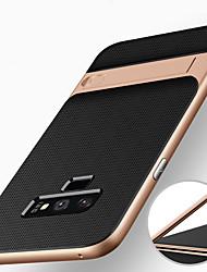 Недорогие -Кейс для Назначение SSamsung Galaxy Note 9 / Note 8 Защита от удара / со стендом Кейс на заднюю панель броня Твердый ПК