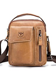 cheap -(BULLCAPTAIN) Men's One Shoulder Messenger Sports Casual Leather Crossover iPad Men's Pouch