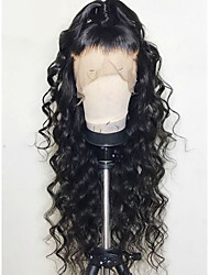 cheap -Remy Human Hair Lace Front Wig style Brazilian Hair Body Wave Wig 130% Density with Baby Hair Natural Hairline Bleached Knots Women's Long Human Hair Lace Wig