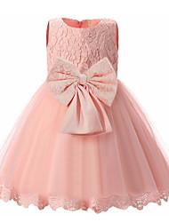 cheap -Kids Girls' Basic Dusty Rose Solid Colored Sleeveless Dress White