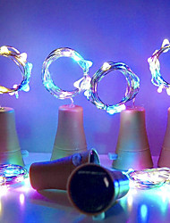 cheap -HKV® Solar 10led Wine Bottle Cork Shaped LED Starry String Lights Night Fairy Lights Lamp For Garden Wedding And Xmas Party
