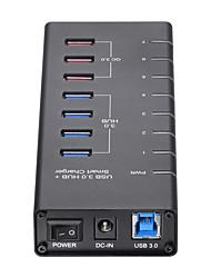 Недорогие -Unestech USB 3.0 to USB 3.0 / USB Type B / USB 3.0 Тип B USB-концентратор 7 Порты Высокая скорость / Защита входа / Новый дизайн / С коммутатором (а)