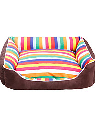 cheap -Dog Cat Bed Beds Fabric Pet Mats & Pads Color Block Stripes Portable Warm Soft Stripe