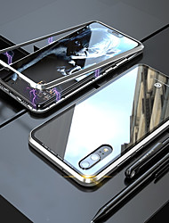 cheap -Case For Huawei Huawei P20 / Huawei P20 Pro Magnetic Full Body Cases Solid Colored Hard Tempered Glass