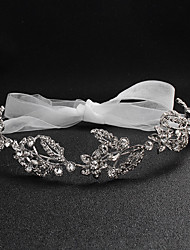 cheap -Alloy Hair Accessory with Crystals / Lace-up 1 Piece Wedding / Special Occasion Headpiece