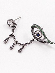 cheap -Women's Stud Earrings Clip on Earring Classic cuff Eyes Ladies Unique Design Elegant Rhinestone Earrings Jewelry Silver For Daily 1pc