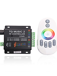 cheap -4A 3-Channel RGB LED Smart Music IR Controller with Multifunction Remote Controller for RGB LED Strip Lamp (DC 12V-24V)