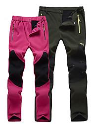 cheap -Women's Hiking Pants Winter Outdoor Windproof Fleece Lining Breathable Warm Pants / Trousers Bottoms Skiing Hiking Outdoor Exercise Black Fuchsia Grey M L XL XXL XXXL / Micro-elastic / Elastic Waist