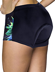 cheap -ILPALADINO Women's Cycling Under Shorts Cycling Shorts Spandex Elastane Bike Shorts Padded Shorts / Chamois Bottoms Quick Dry Anatomic Design Sports Floral Botanical Forest Green / Black / Red Road