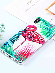 cheap -Case For Apple iPhone XS / iPhone XR / iPhone XS Max Pattern Back Cover Flamingo / Animal Soft TPU
